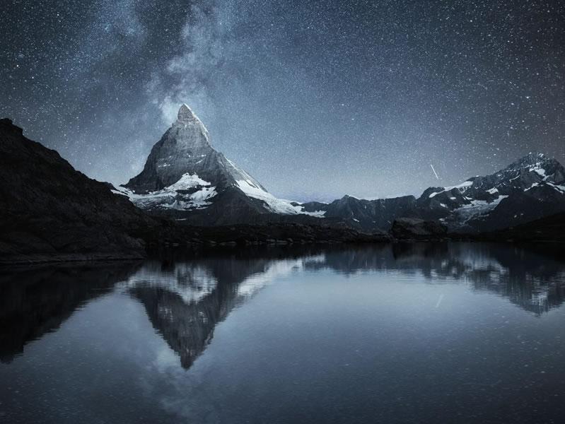 Matterhorn and stars