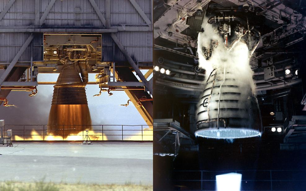 Rocket engine exhaust